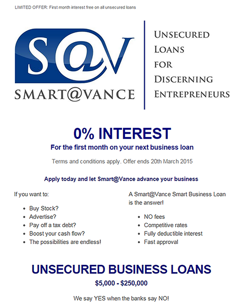 0% Interest For The First Month On Your Next Business Loan